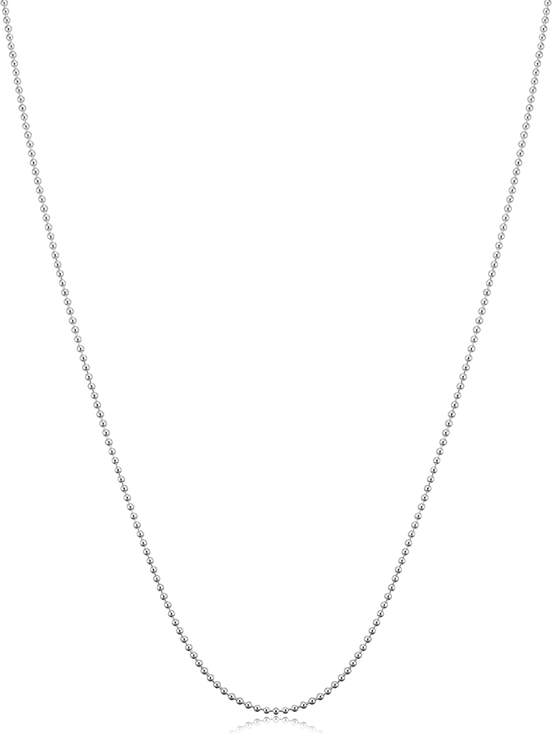 Yellow Gold Plated Silver or Over item handling Chain Sterling Ball Necklace Award-winning store