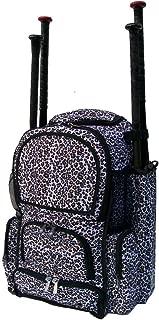 White Cheetah Print Camouflage Chita M Medium Softball Baseball Bat Equipment Backpack