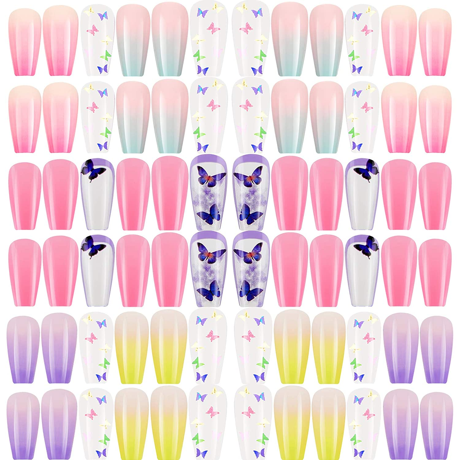 72 Max 79% OFF Pieces 3 Sets Long Ballerina on 4 years warranty Coffin Nails Press