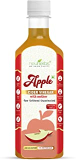 Neuherbs Apple Cider Vinegar with Mother Vinegar, Raw, Unfiltered and Undiluted - 350 ml