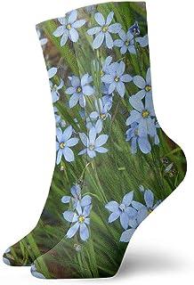 tyui7, Calcetines de compresión antideslizantes de hierbas y flores Calcetines deportivos de 30 cm acogedores para hombres, mujeres, niños