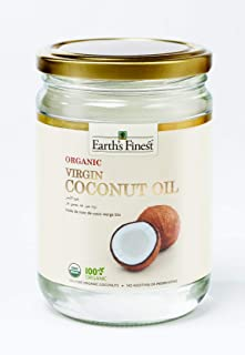 Earth's Finest Organic Virgin Coconut Oil - 500 ml | Cold-Pressed Coconut Oil for Cooking, Hair, Body & Massage | Pure & U...
