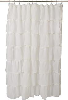 """LORRAINE HOME FASHIONS Gypsy Ruffled Shower Curtain, Lor-3172, Cream, 70"""" x 72"""""""