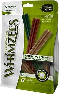 Whimzees Natural Grain Free Dental Dog Treats, Stix Large 6+1pcs 360g+60g