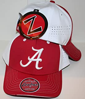 Zephyr University of Alabama Bama Crimson Tide Red White Pacer Top Performance Mens/Womens Adjustable Baseball Hat/Cap