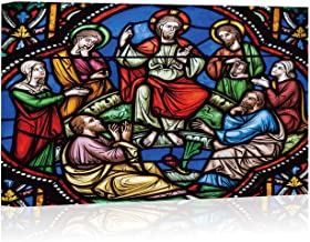 Sermon on The Mount Stained Glass Canvas Art Wall Decor,128372 Painting Wall Art Picture Print on Canvas,24
