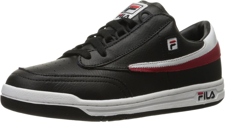 Fila Hommes's Original Tennis mode paniers, noir blanc rouge, 11.5 M US