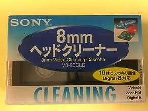 Sony V8-6CLD 8mm / Hi8 / Digital8 Camcorder Video Head Cleaning Cassette