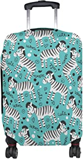 COOSUN Infantiles Lindo cebras Imprimir Equipaje de Viaje Cubiertas Protectoras Lavable Spandex Equipaje Maleta Cubierta -