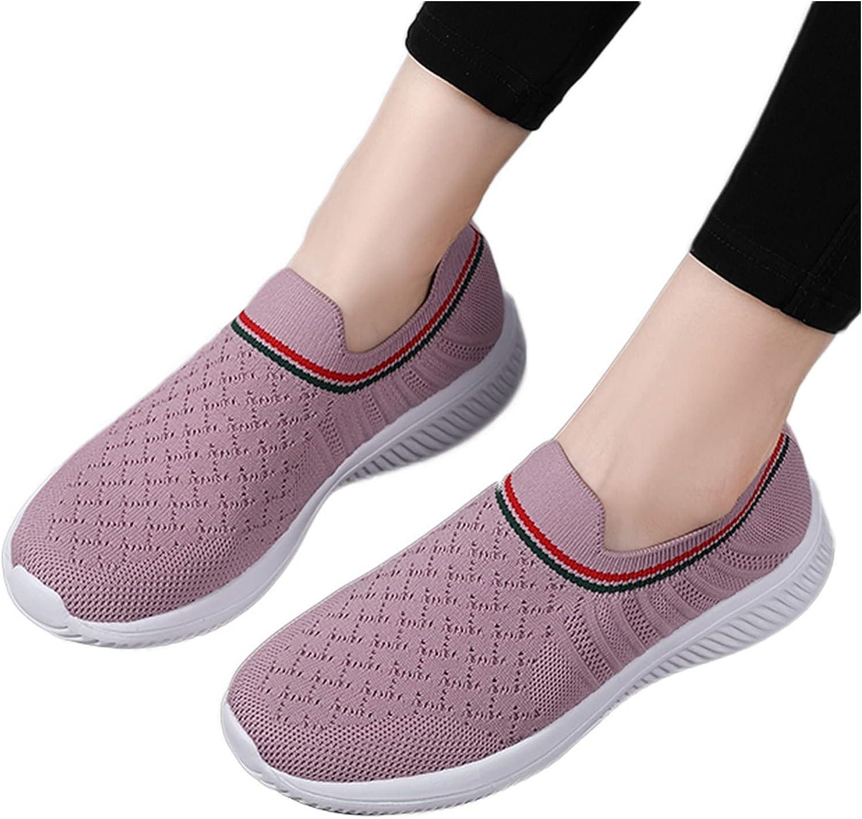 Hbeylia Women's Walking Running Hiking Tennis Shoes Lightweight Knit Mesh Slip On Sock Sneakers Anti Slip Outdoor Sport Athletic Shoes For Women Men Yoga Workout Jogger Work Nurse