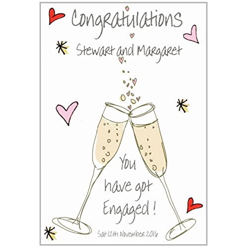 Personalised,Daughter and Fiance etc Congratulations Engagement Card.3d Design