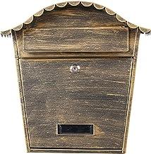 BANNAB Vergrendeling Wall Mount Mailbox,Postvakken Outdoor met Combinatieslot Beveiligingssleutel Drop Box Europese Villa ...