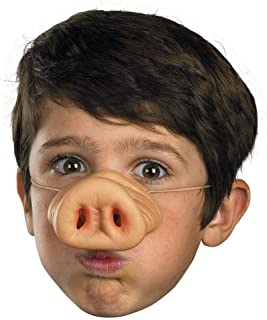 SODIAL Halloween Latex Pig Nose Pig Nose Costume Rubber Latex Nose Muzzle mask Funny Pig Nose