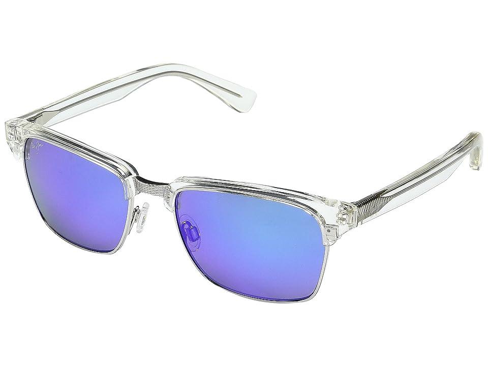 Maui Jim Kawika Blue Hawaii (Crystal/Blue Hawaii) Fashion Sunglasses