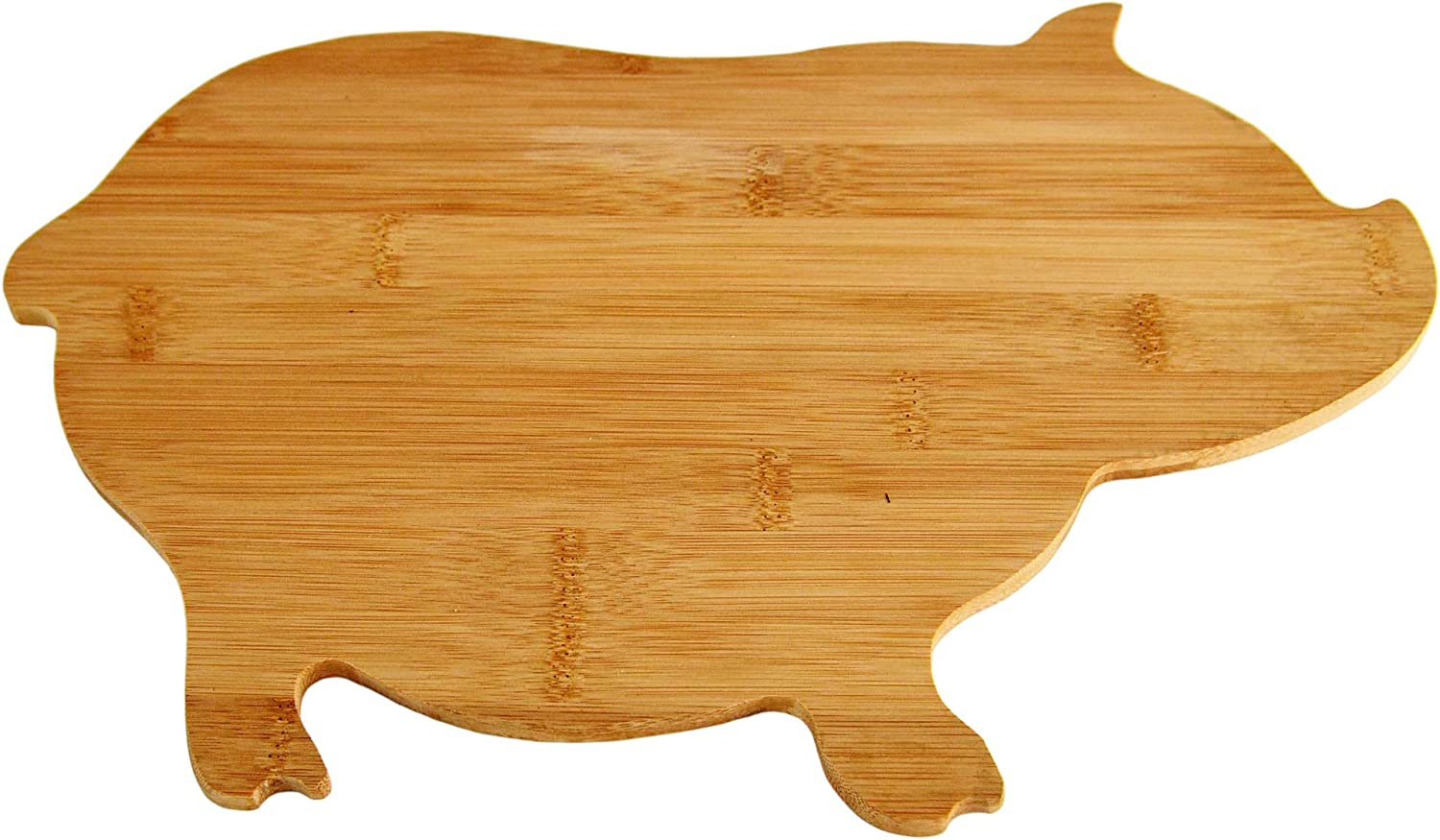 HOME-X Pig-Shaped Bamboo Reversible Cutting and Serving Board Tr Sale supreme