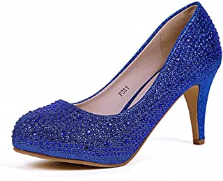 Cull4U Women's Fulgurate Rhinestones Pumps Shoes