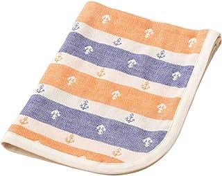 エムール ベビー用 ガーゼケット 90×120cm イカリボーダー 日本製 サンセットオレンジ [Baby Product] [Baby Product]