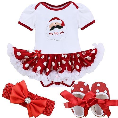 IEFIEL Vestidos de Princesa Carnaval Fiesta Estilo de Pelele Conjunto Infantil Invierno para Bebé Niña Recién