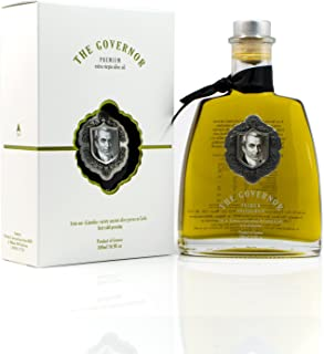 The Governor, Premium Unfiltered Extra Virgin Olive Oil | Olive Oil Polyphenols with Robust Health-Giving Properties | Cold-Pressed Olive Oil | Luxury Glass Bottle 500ml