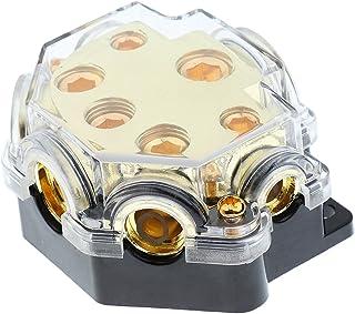 Suporte de fusível de áudio para carro Homyl Bloco de distribuição 0/2/4 Ga entrada 2, 4, 8 Ga