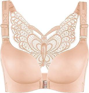 Topfly® Women Front Closure Beauty Back Butterfly Wirefree Bras Push-up Sleek Wireless Bras