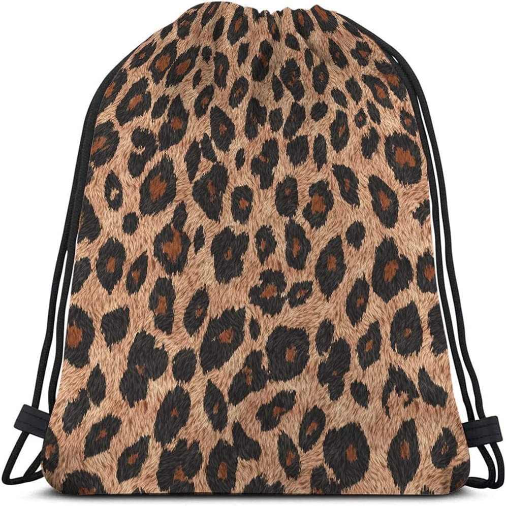 Beabes Leopard Skin Drawstring Bags Backpack Bag Animal El Paso Mall High quality new Print Be