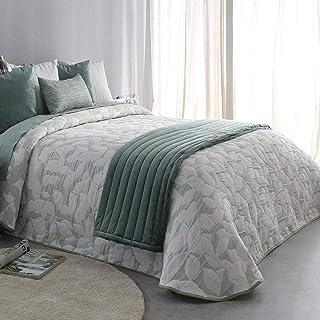 Colcha edredon conforter gris y verde tamaño de 150,180, 90