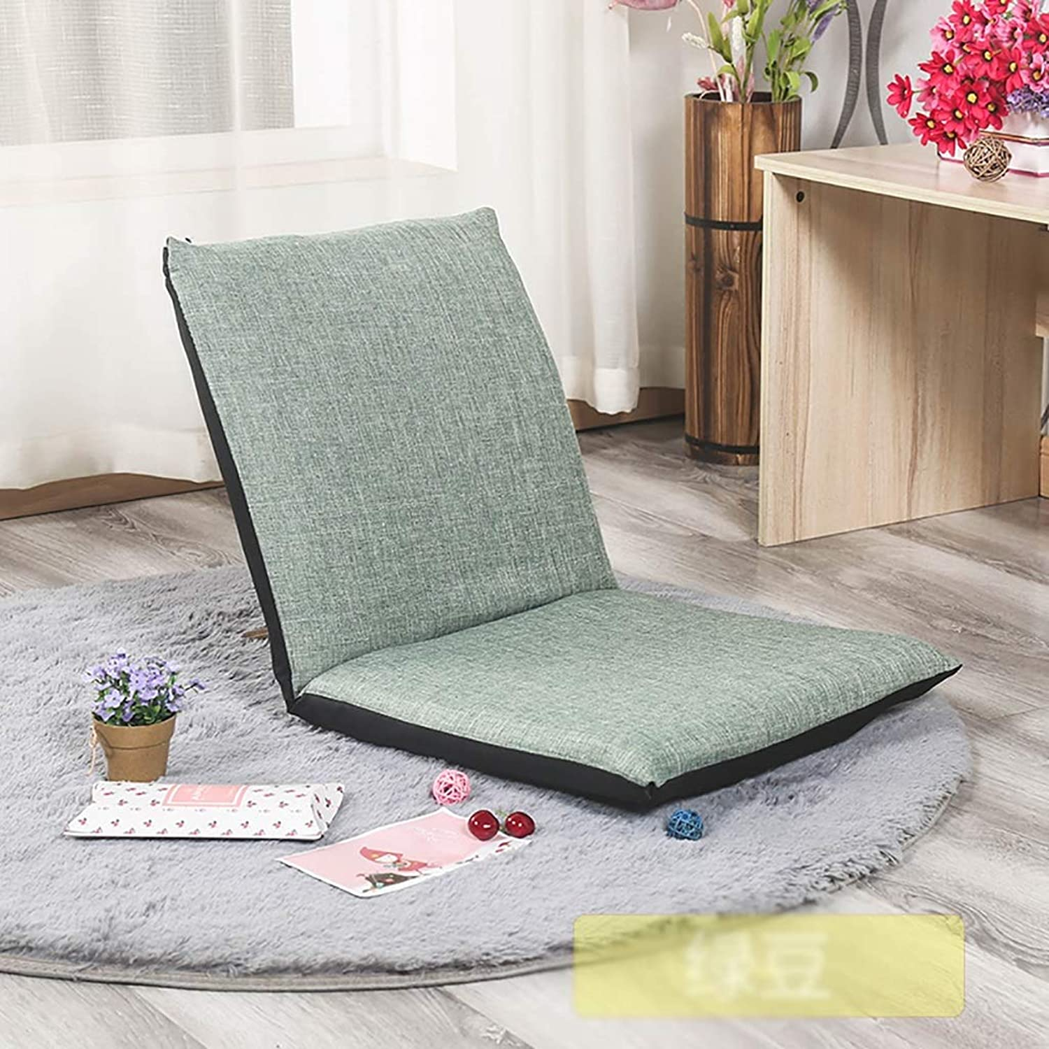 HYXLRKD Lazy couch foldable single cushion bed small sofa chair bay window chair backrest cushion 80  40  40cm (color   F)