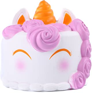 AOLIGE Easter Basket Stuffers Unicorn Cake Squishy Toy Party Decoration for Boys and Girls