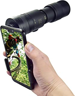 Monocular Telescope 10-300x40mm Zoom High Power HD Monocular with Smartphone Holder & Tripod Bak4 Prism for Hunting/campin...
