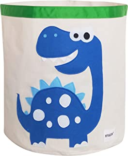 HIYAGON Storage Bin,Cube Hamper Box for Kids Toys Animal Theme Decor Perfect for Baby Nursery(Blue Dinosaur)