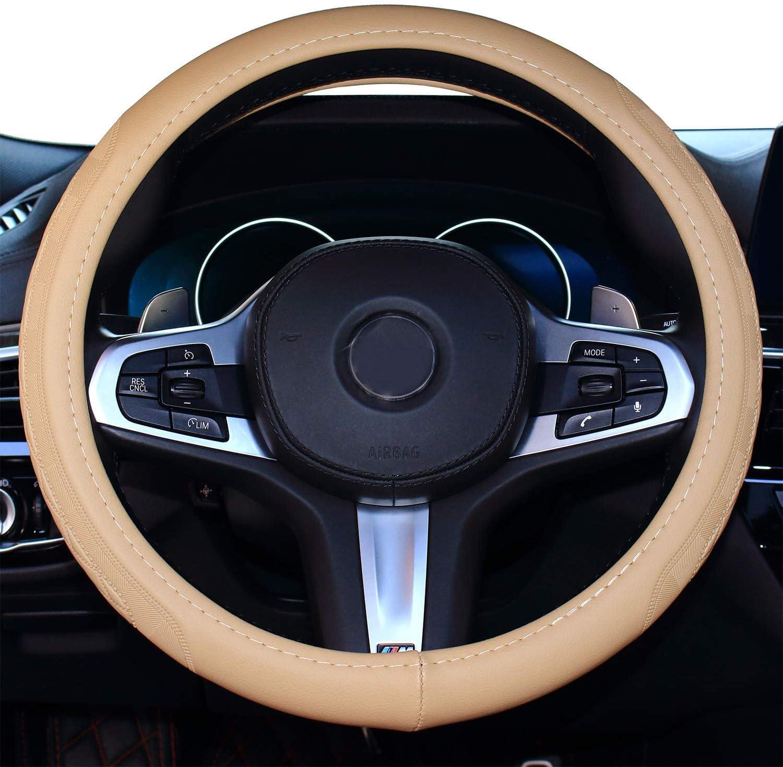 2019 Coole Auto Lenkradabdeckung Komfort Haltbarkeit Sicherheit Für Männer Schwarz Auto
