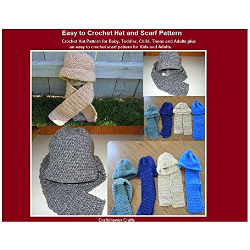 Amazon.com  Easy to Crochet Hat and Scarf Pattern for Baby 237d34faa01