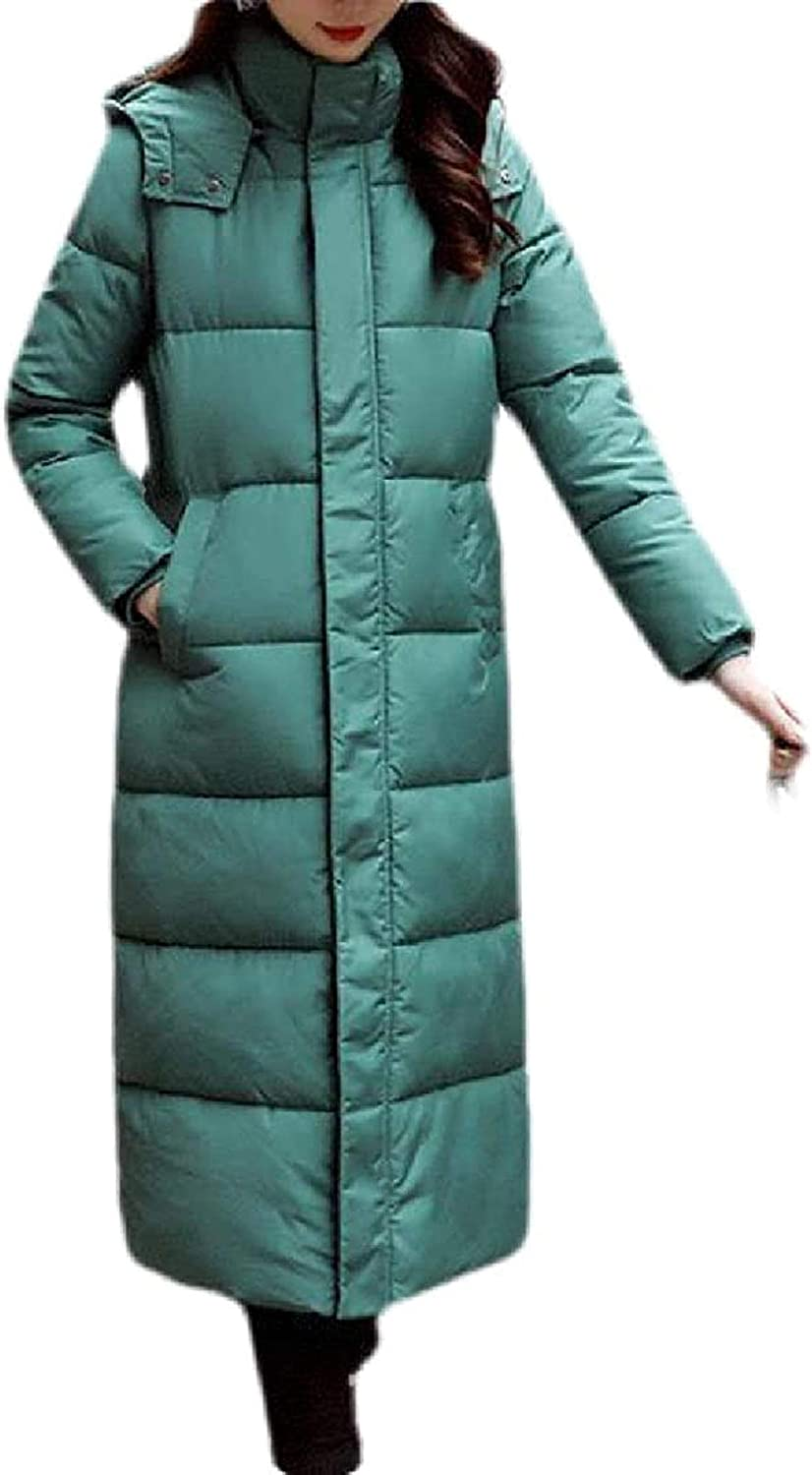 Womens Outdoor Thicken Quilted Down Hooded Jacket Winter Parka Coat