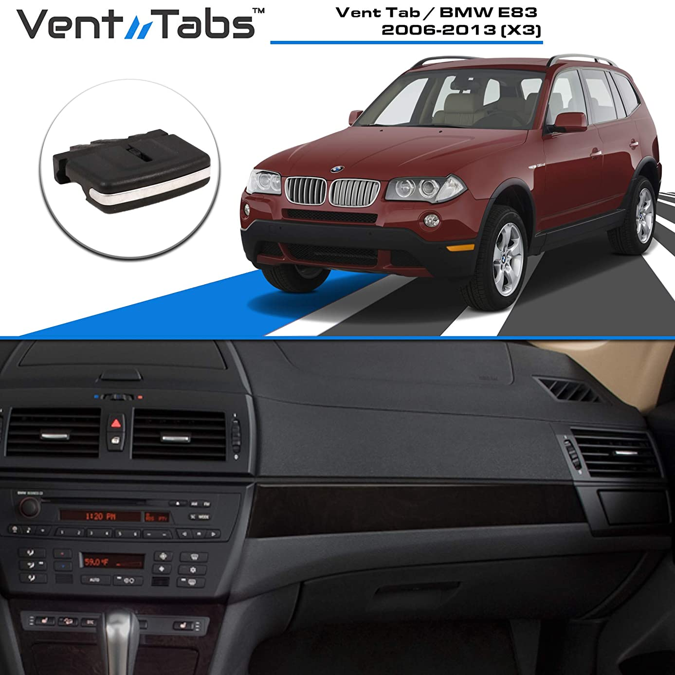 Venttabs for BMW X3 (2006-2013) E83 - Air Conditioning Vent Replacement Tab30-SECOND Installation Easy Clip on   No Screws or Tools Required   American Design - Vent Outlet Tab Clip