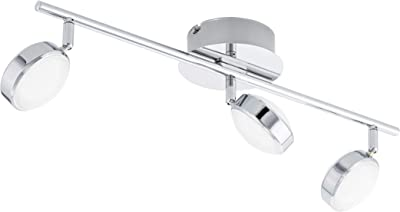 Eglo Saut Indoor 54W Chrome–Ceiling Lighting (Living Room, Indoor, Chrome, Ip20, Surfaced, Round)