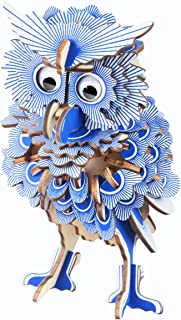 CC-Show 3D Puzzles for Adults (142 Pieces), 3D Wooden Puzzle/Jigsaw Puzzles for Kids as Hobbies Gifts, Toys, Decoration - Owl Model Kit