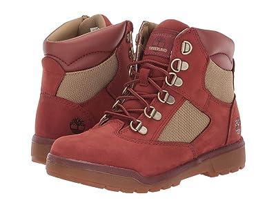 Timberland Kids 6 Fabric/Leather Field Boot (Big Kid) (Rust Nubuck) Kids Shoes