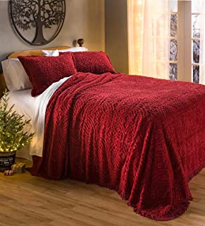 wedding ring tufted chenille bedspread