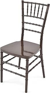 EventStable Titan Series Resin Chiavari Chair - Fruitwood, 48-Pack