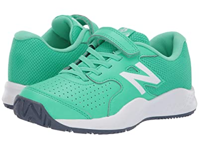 New Balance Kids KC696v3 Tennis (Little Kid/Big Kid) (Neon Emerald/Vintage Indigo) Kids Shoes