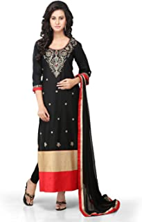 Utsav Fashion Women's Cotton Readymade Abaya Style Kameez With Legging