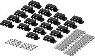 Magneetsnapper deurmagneet meubelmagneet kast snaper magneetsluiting wit 20 (ohne Schrauben) zwart