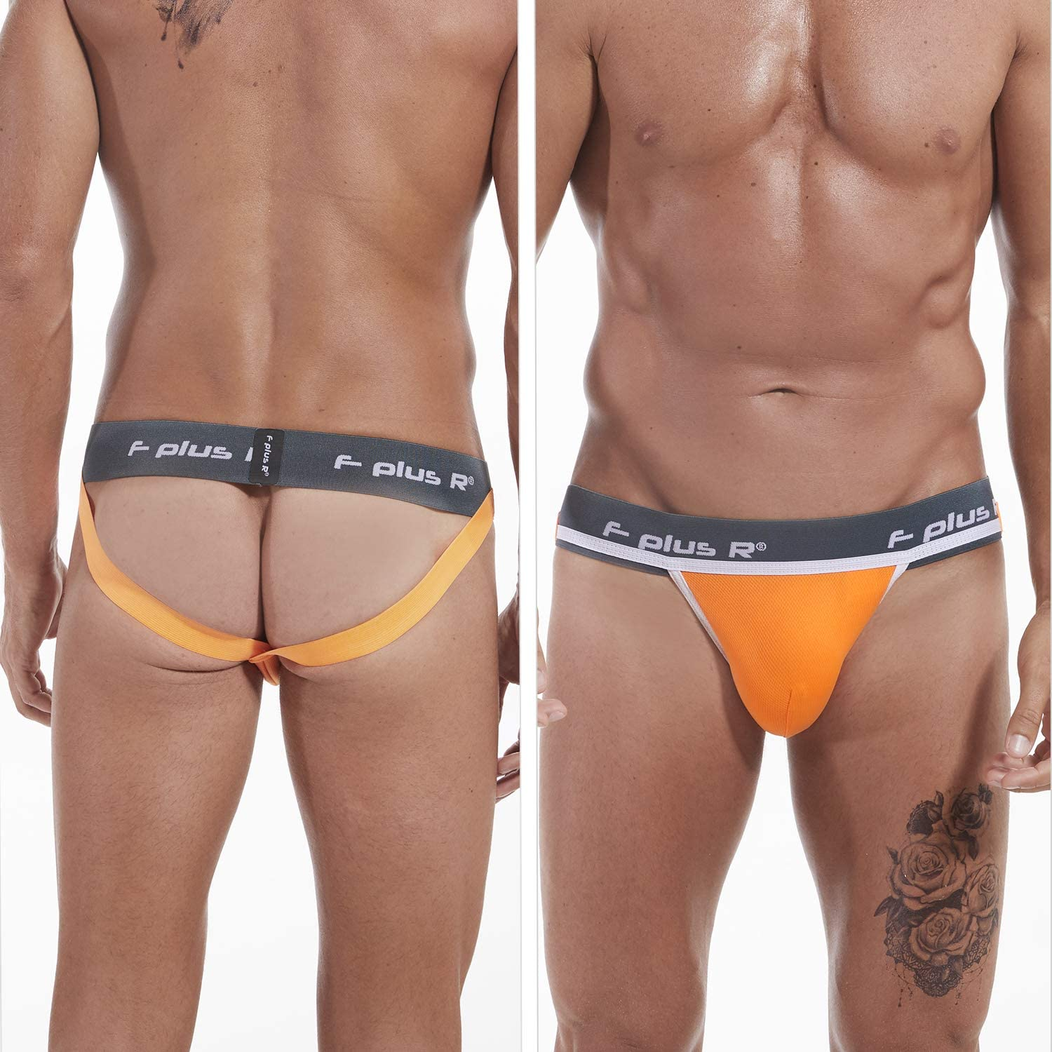 F plus R Mens Athletic Supporter Jockstrap with Cup Pocket 2 Inch Waistband