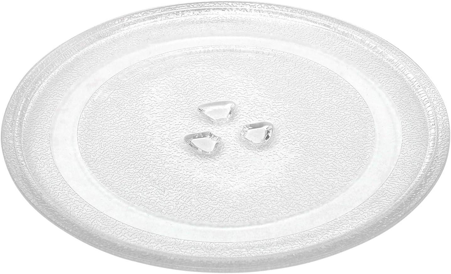 Plato Universal de Vidrio para Microondas, Universal Microondas Plato Giratorio Placa de Cristal, Incluye 3 Accesorios, de 305 mm
