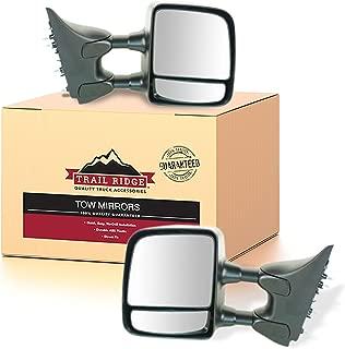 Trail Ridge Towing Mirror Manual Textured Black Pair Set for Nissan Titan XE S