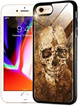 for iPhone 6, iPhone 6S, Stunning Soft Edge Glass Back Case Phone Cover, 0007 Skull Horror GL12112