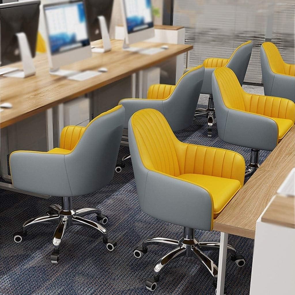 HEJINXL Chaise Bureau Rotation 360 Degrés Pivotante Fauteuil Cuir Dossier Chaises Cuisine Ajustable For Accueil Bureau Chaise Jardin chaise cuisine (Color : F) B