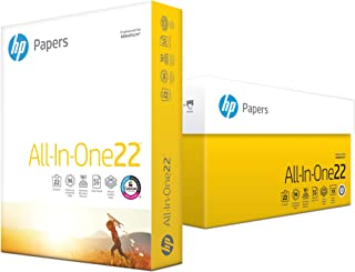 HP Printer Paper, All In One Printing Copy Paper, 22lb, 8.5 x 11, Letter, 96 Bright - 10 Pack / 5,000 Sheets (207010C)