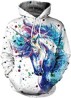 Men's Realistic 3D Digital Print Pullover Hoodie Hooded Sweatshirt